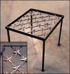 Iron gate table